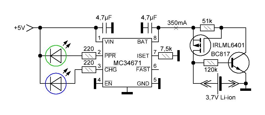 зарядка li-ion аккумулятора от usb
