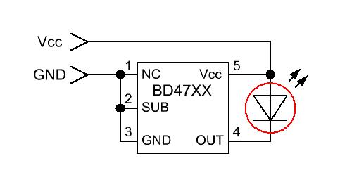 Схема разряда батареек