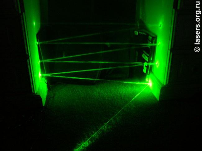Лазерное поле в действии!
